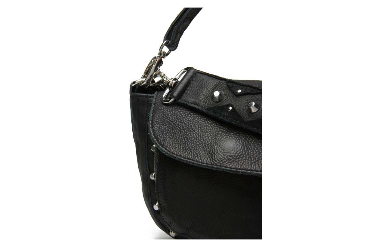 Black Unlimit Adax De Emily Peau Shoulder 100 Vache Bag rCazCd