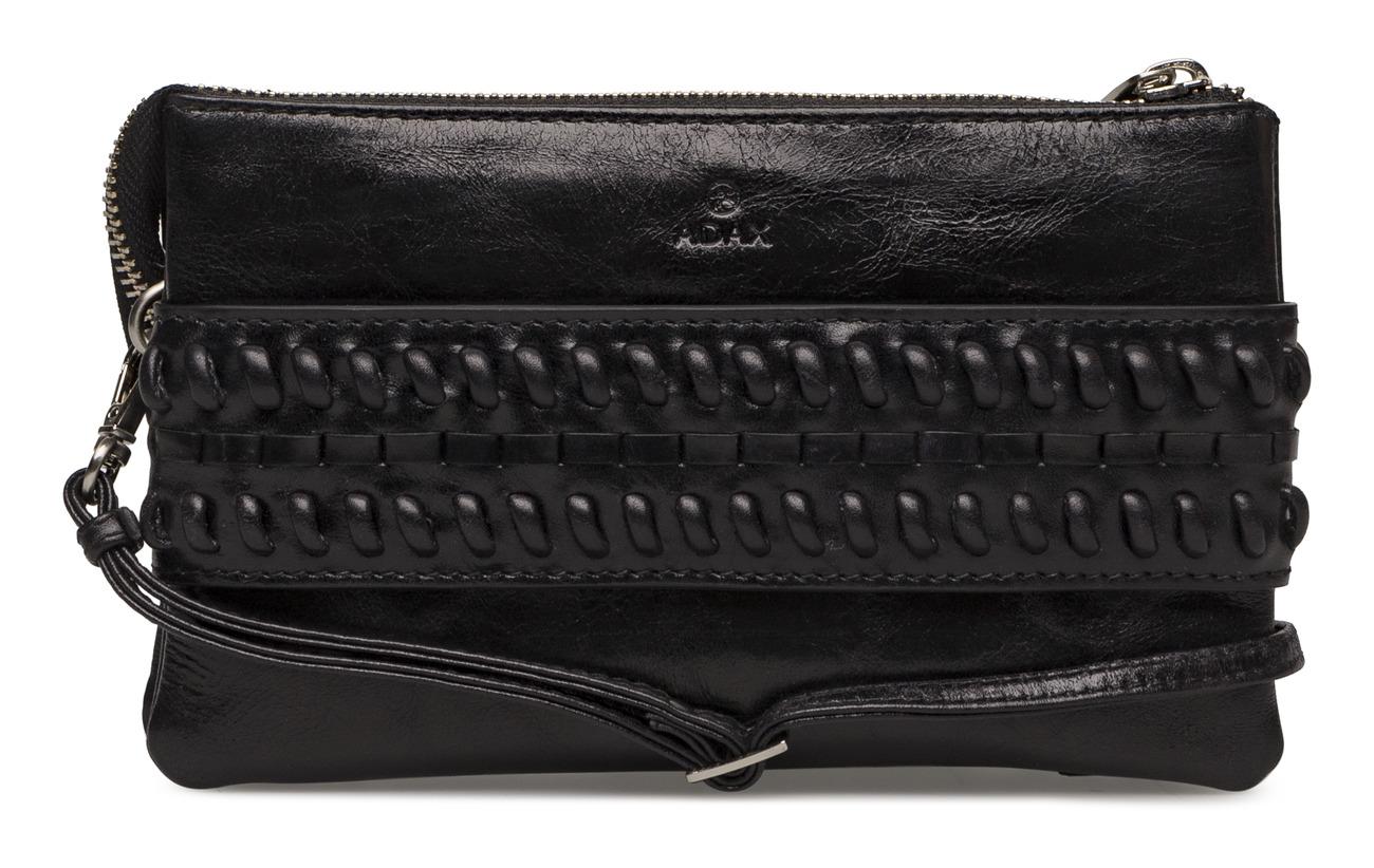 Black Combi Vache Miska Intérieure Peau De Salerno Doublure 100 Adax Équipement Polyester Clutch qI7a5