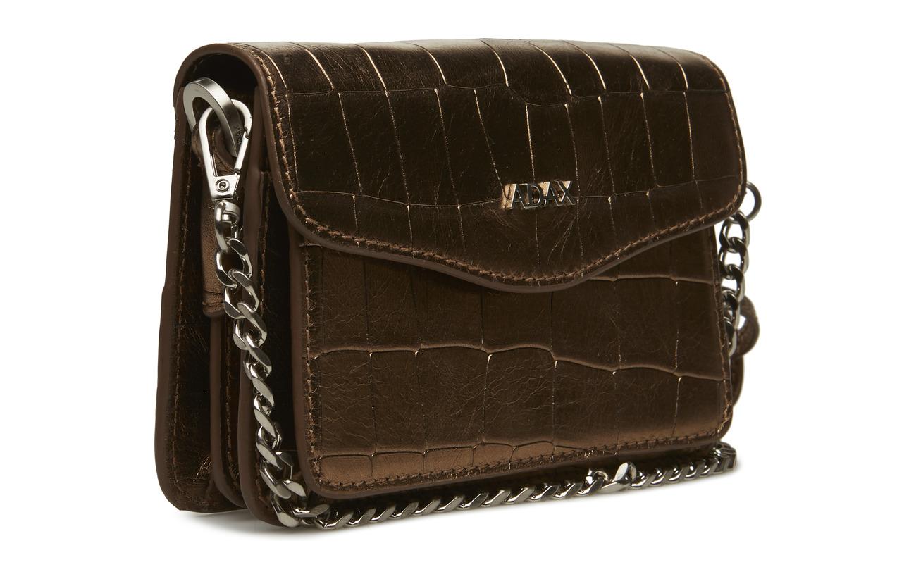 Adax Équipement Bag Fillipa Intérieure Gold Polyester De 100 Shoulder Peau Vache Doublure Avola Brqxz4B