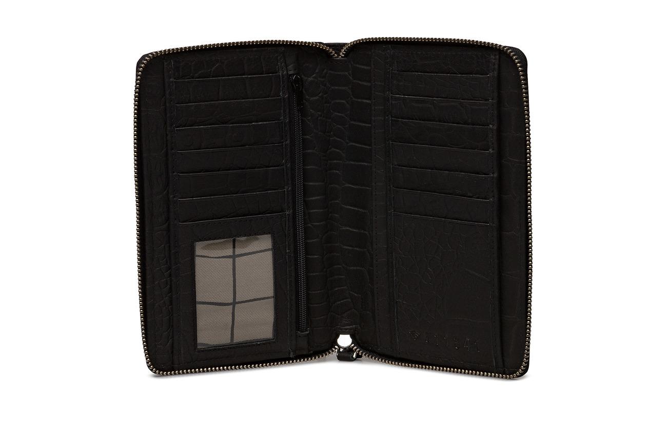 Inez Amigo Peau Black De 100 Intérieure Adax Coton Doublure Équipement Vache Wallet EwAxa