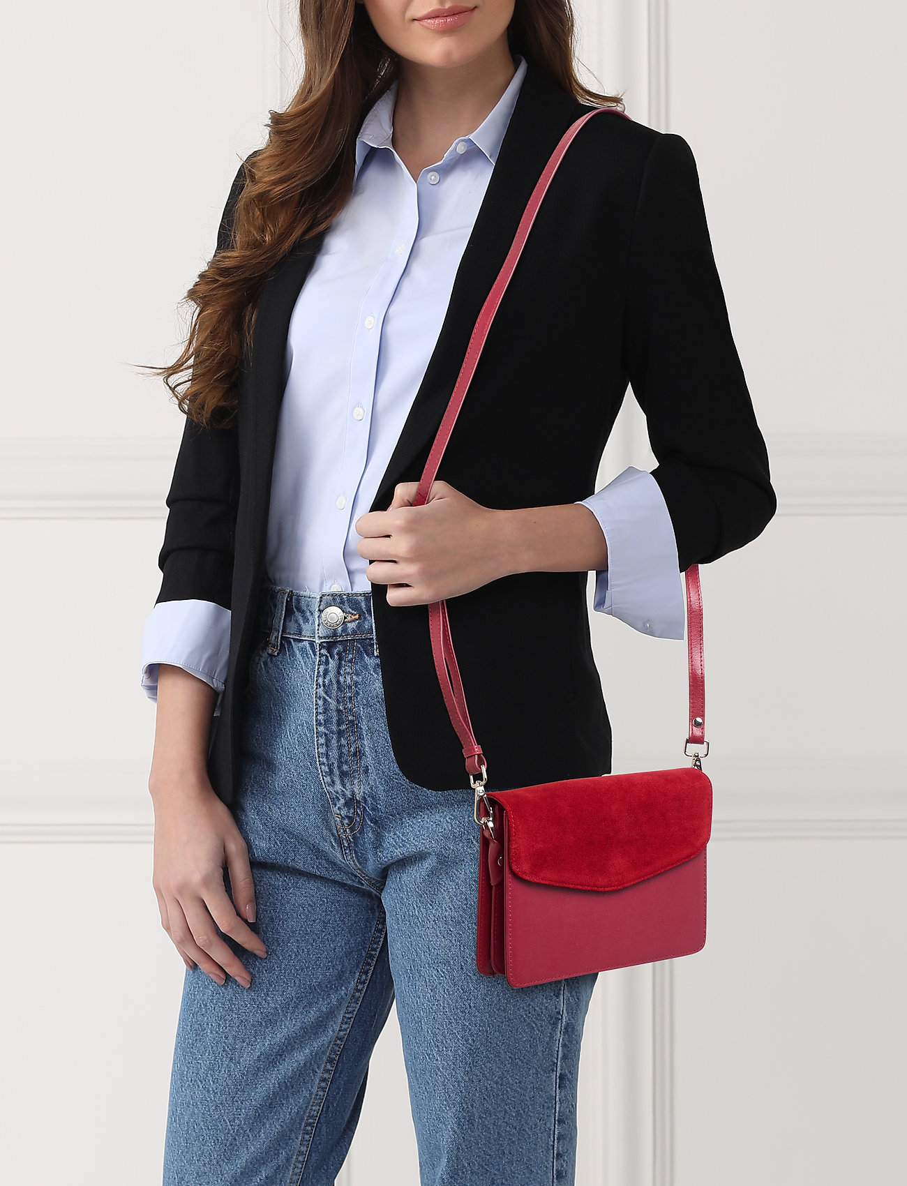 Adax Savona shoulder bag Fanni - SCARLET