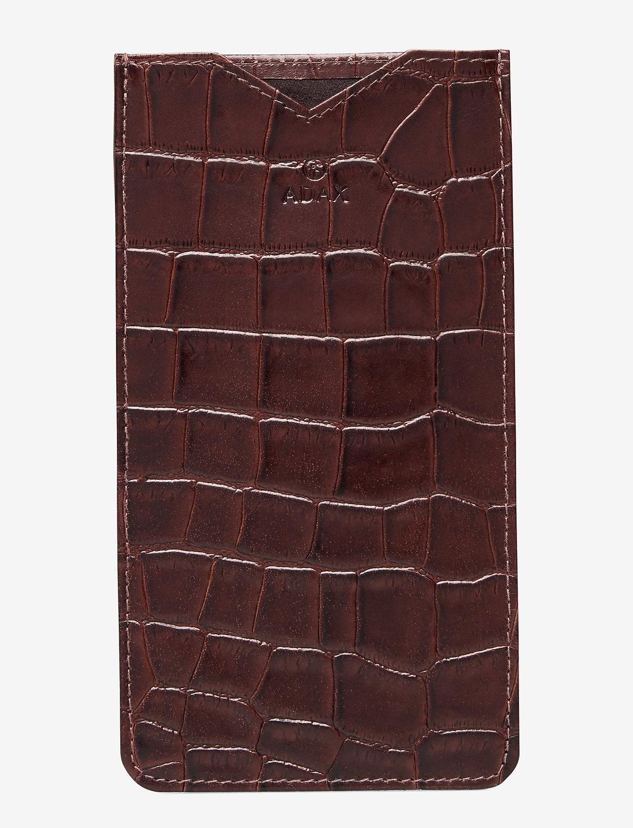 Adax - Piemonte iPhone+ cover Dakota - puhelimen kuoret - brown - 0