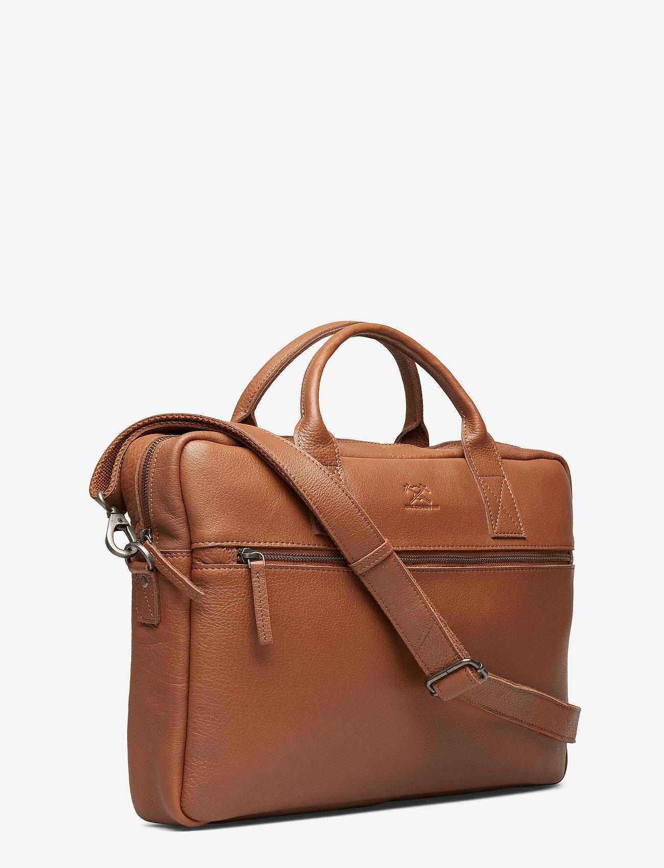 Adax - Prato briefcase Tobias 15,6' - laptoptassen - cognac - 1
