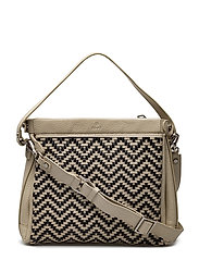 Alba shoulder bag Beata - WHITE/BLACK