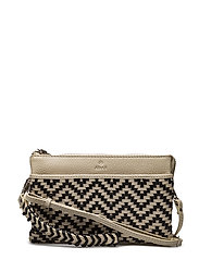 Alba combi clutch Eline - WHITE/BLACK