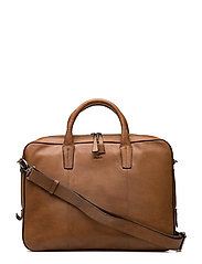 "Napoli working bag Glenn 14"" - COGNAC"