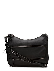 Ruby shoulder bag Puk - BLACK