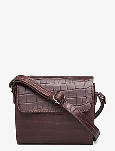 Teramo eco shoulderbag Rosmina - axelremsväskor - dark brown
