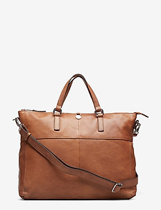 Napoli working bag Sasha - laptoptassen - cognac