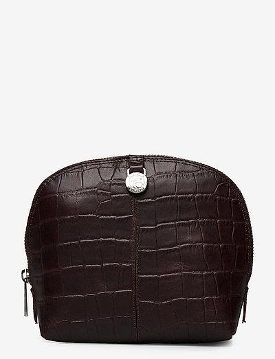 Teramo eco cosmetic purse Paulina - toilettasker - dark brown