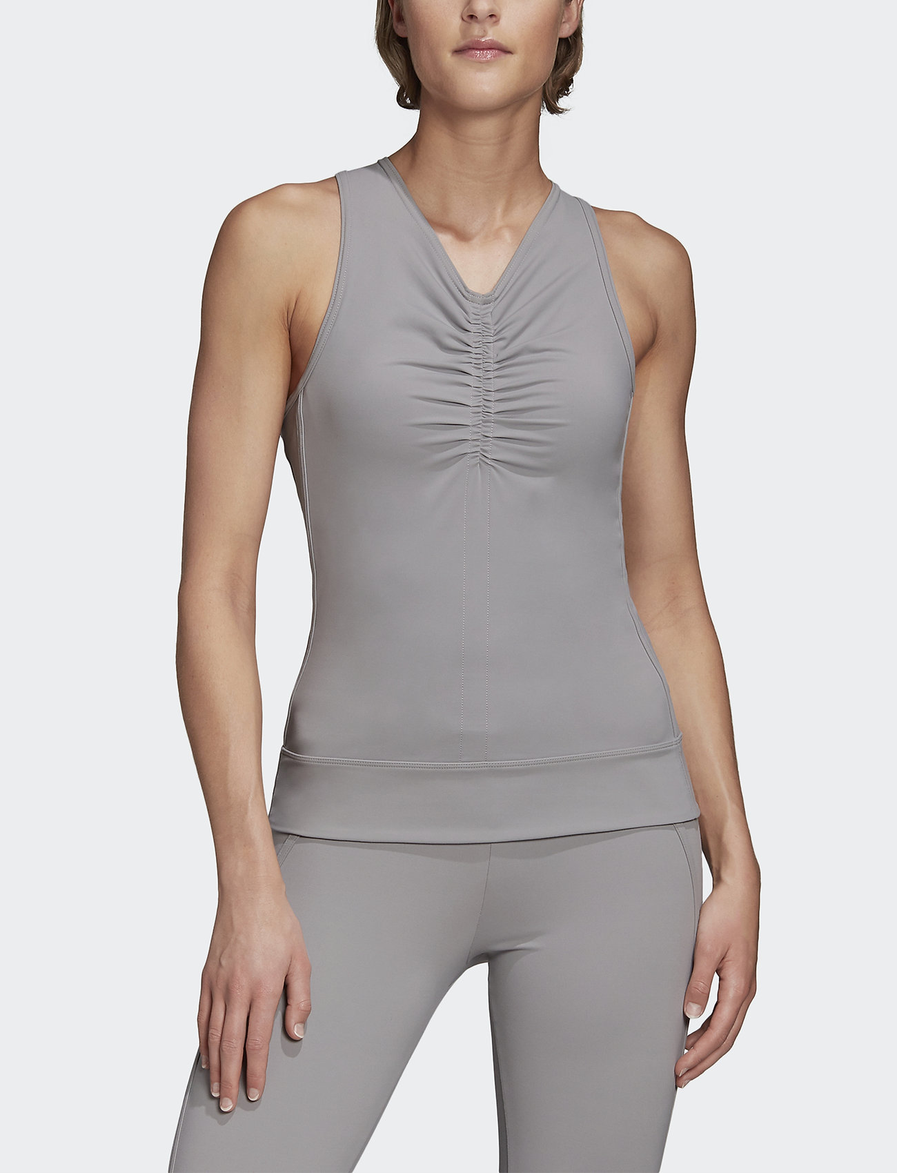adidas by Stella McCartney - COMF TANK - linnen - icegry - 0