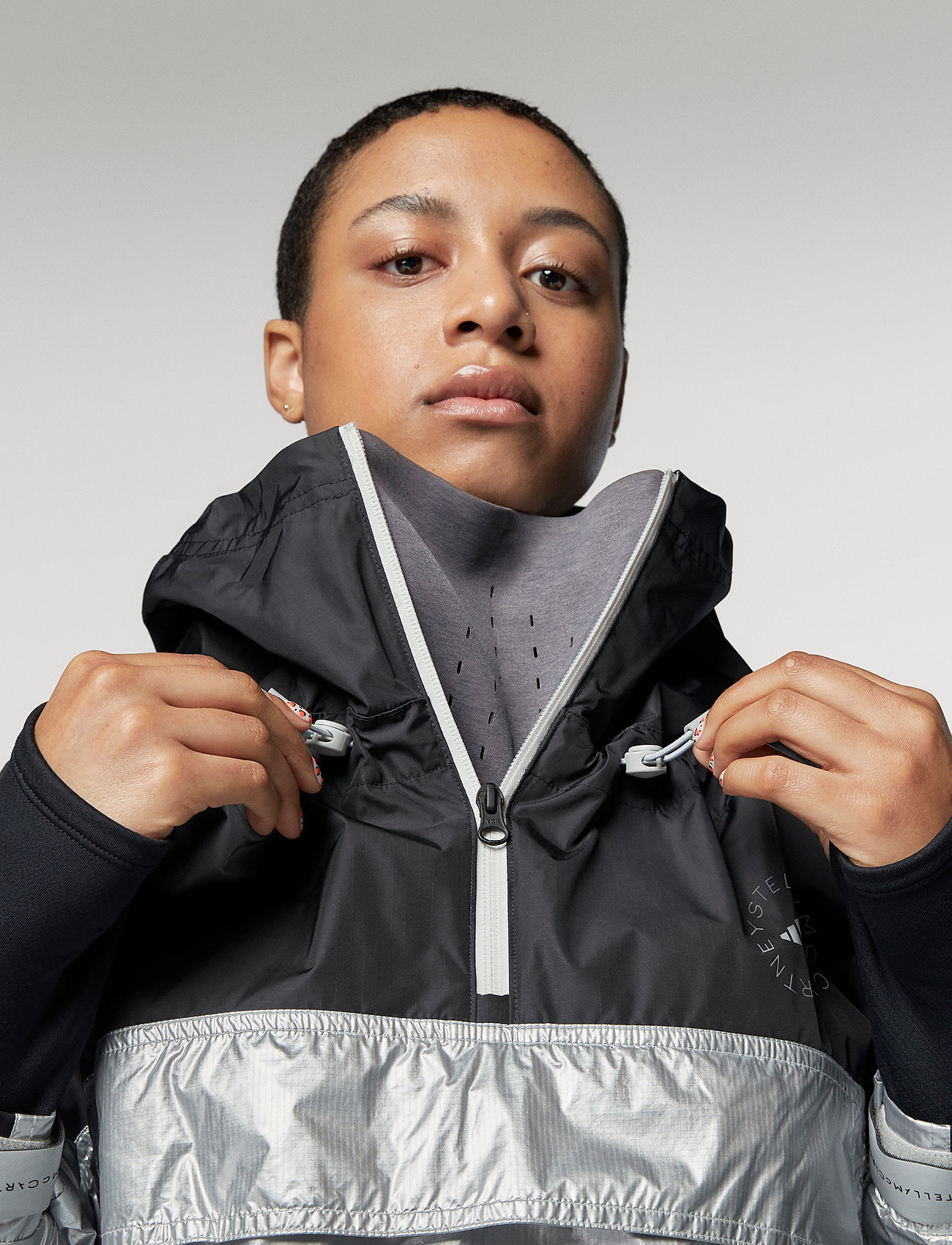 adidas by Stella McCartney - URBXTR PULLON - training jackets - black/metsil - 5