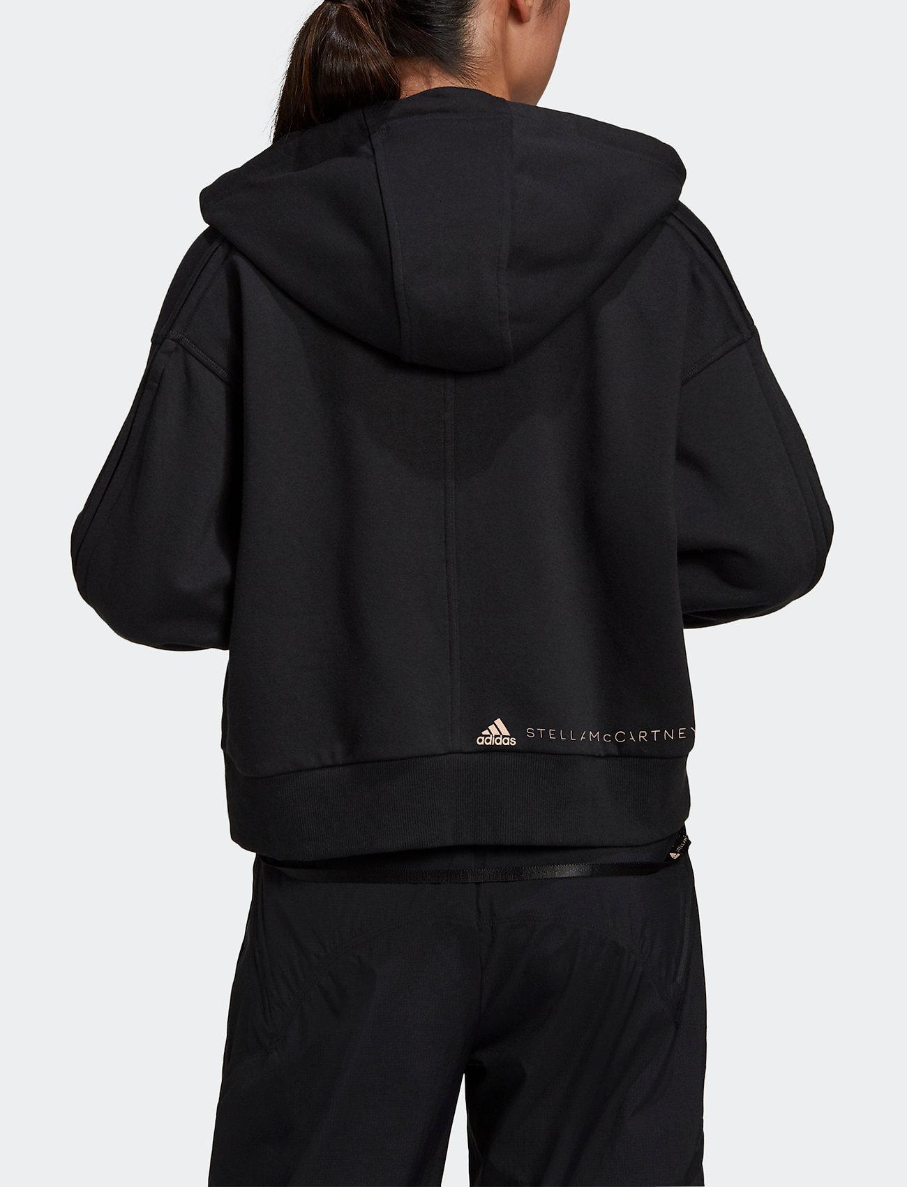 adidas by Stella McCartney - Full-Zip Cropped Hoodie W - sweatshirts & hoodies - black - 3