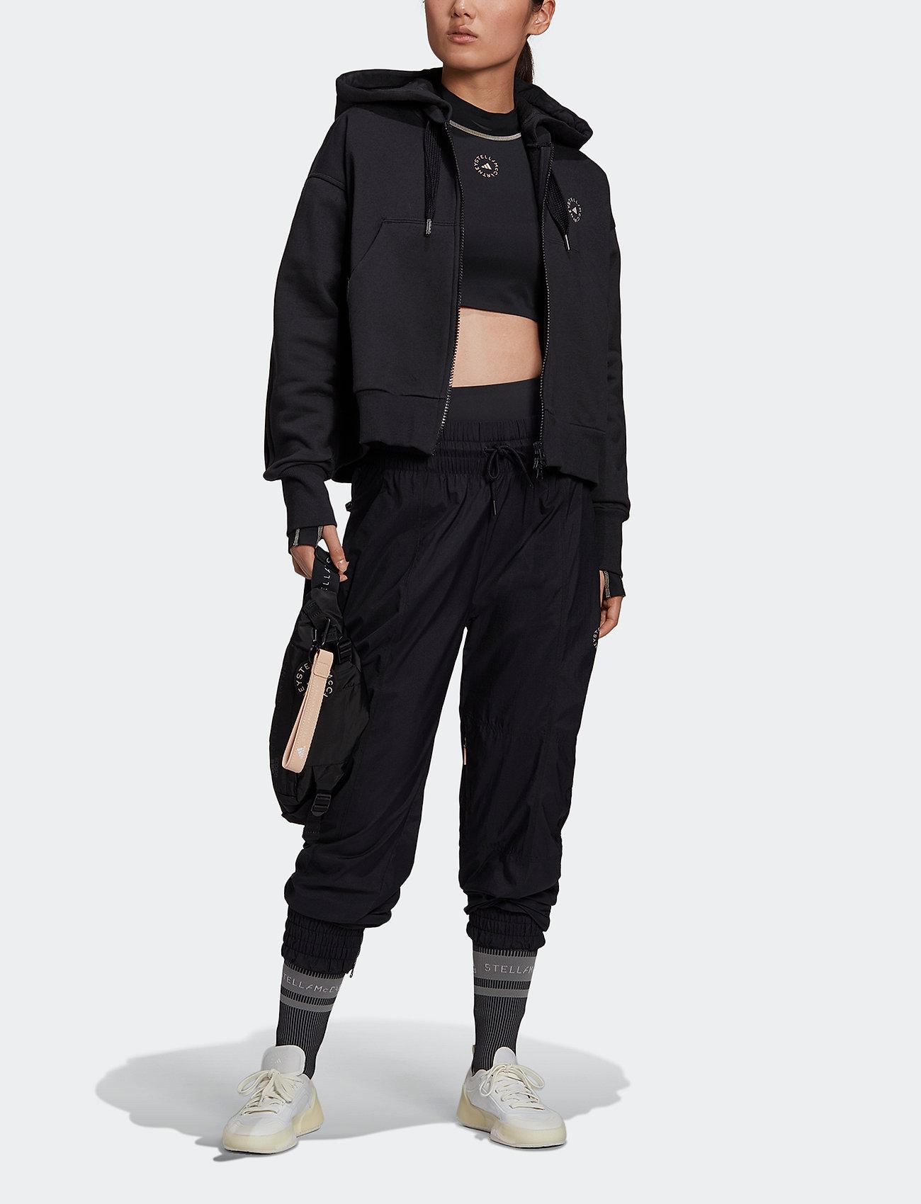 adidas by Stella McCartney - Full-Zip Cropped Hoodie W - sweatshirts & hoodies - black - 4