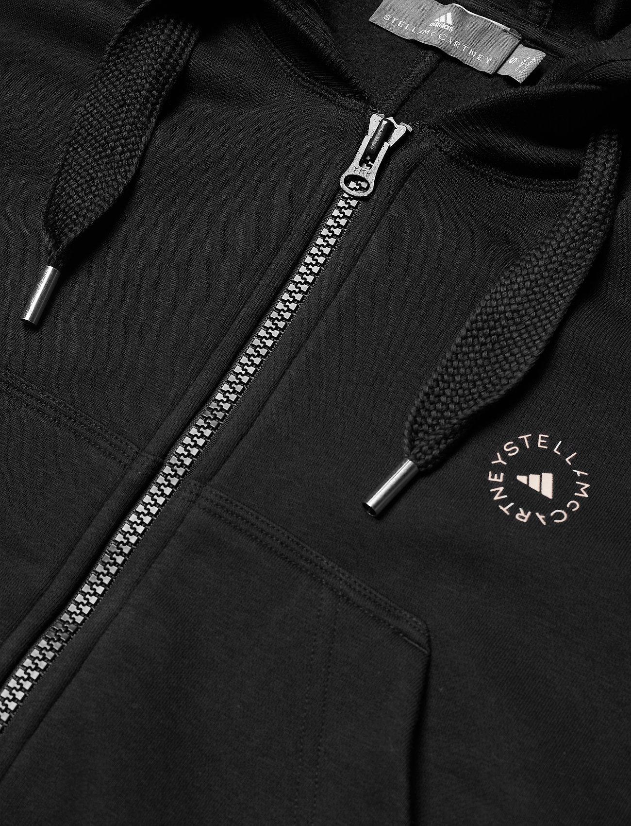 adidas by Stella McCartney - Full-Zip Cropped Hoodie W - sweatshirts & hoodies - black - 5