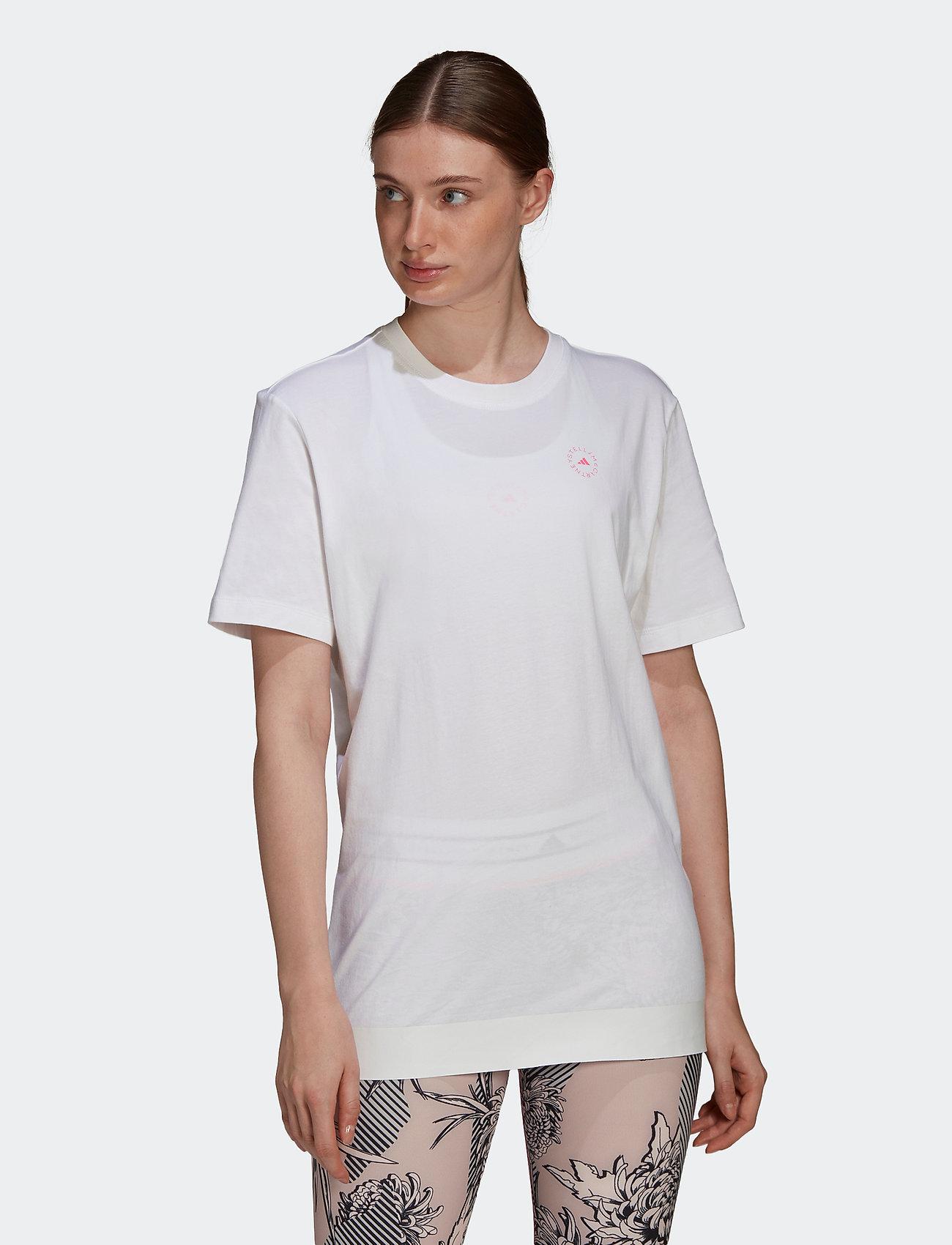 adidas by Stella McCartney - Cotton T-Shirt W - t-shirts - white/white - 0