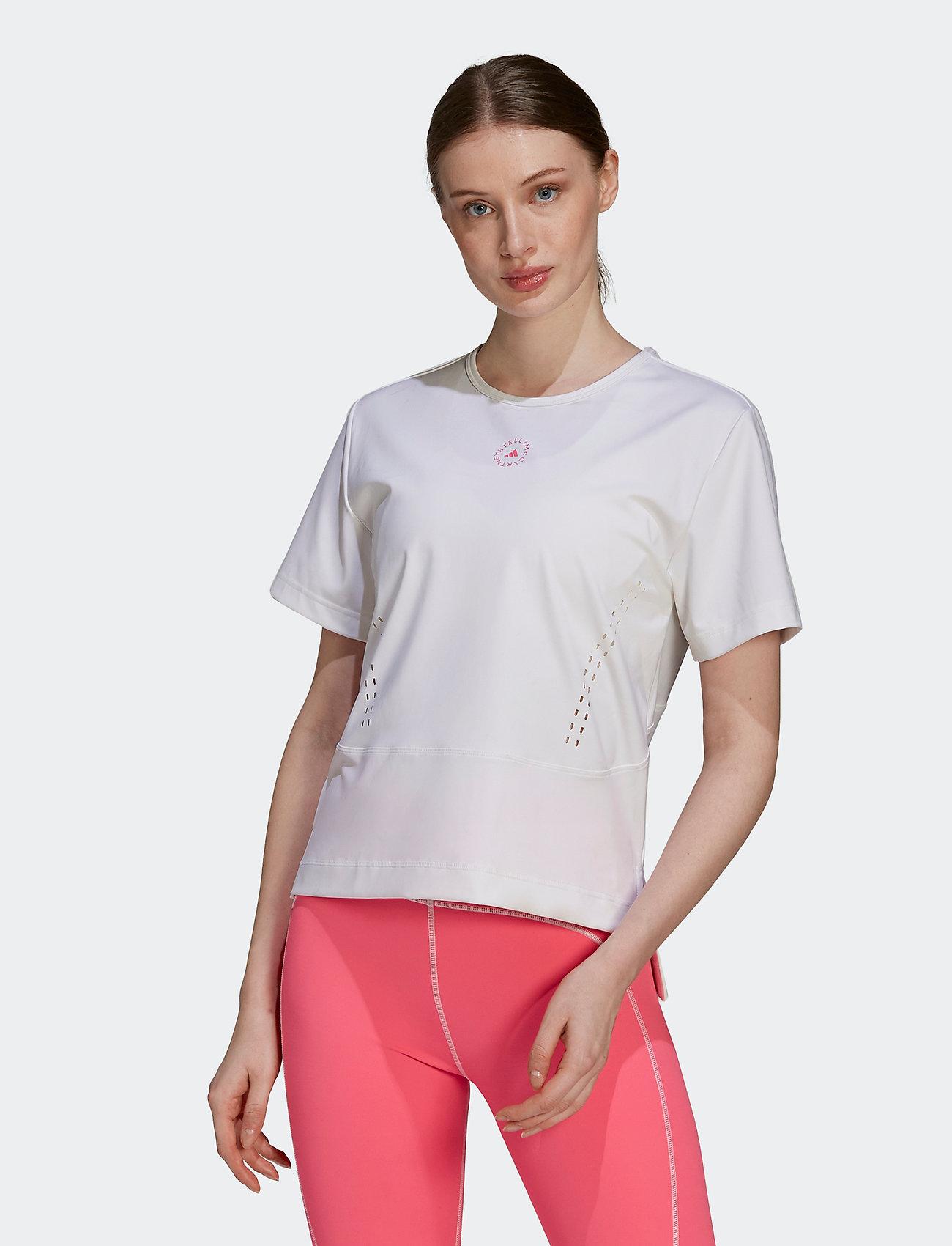 adidas by Stella McCartney - TRUESTRENGTH Loose T-Shirt W - t-shirts - white/white - 0