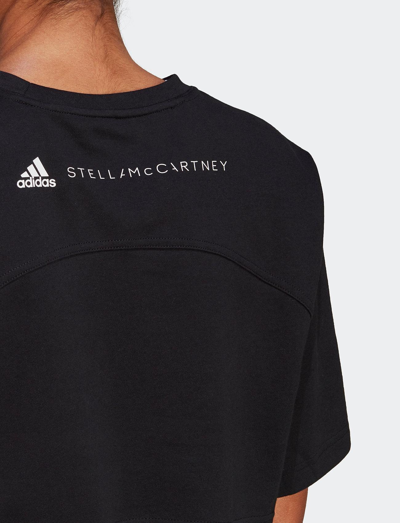 adidas by Stella McCartney - Future Playground Cropped T-Shirt W - tops & t-shirts - black - 4