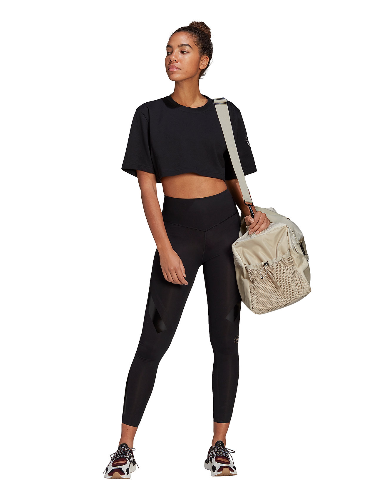 adidas by Stella McCartney - Future Playground Cropped T-Shirt W - tops & t-shirts - black - 5