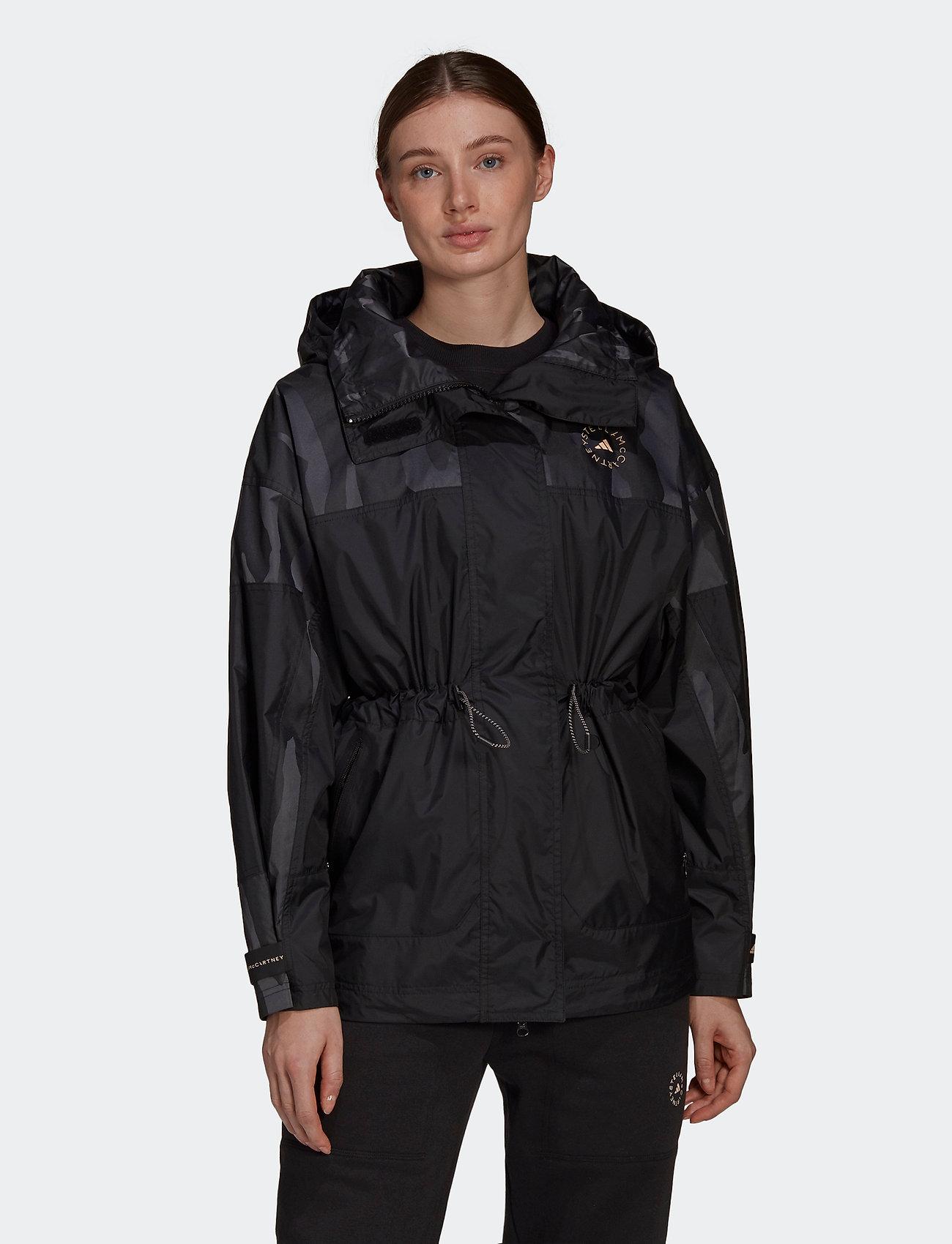 adidas by Stella McCartney - TruePace Jacquard Jacket W - parka coats - black - 0