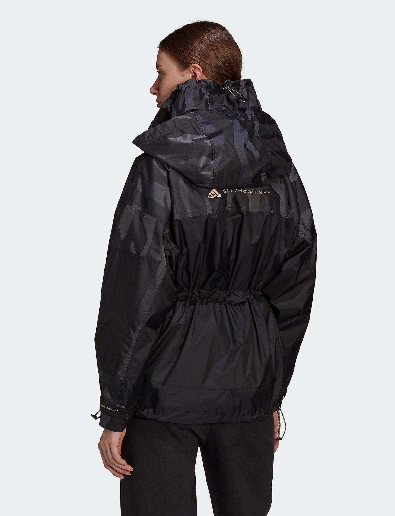 adidas by Stella McCartney - TruePace Jacquard Jacket W - parka coats - black - 3