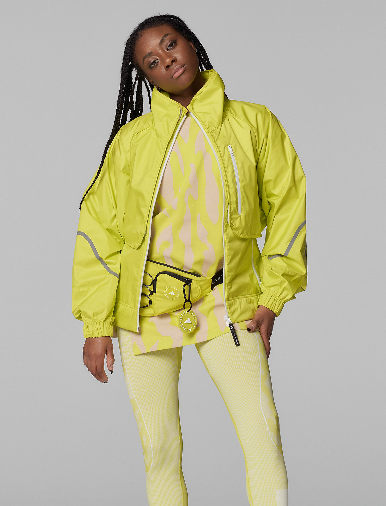 adidas by Stella McCartney - TruePace Two-In-One Jacket W - koulutustakit - aciyel - 0
