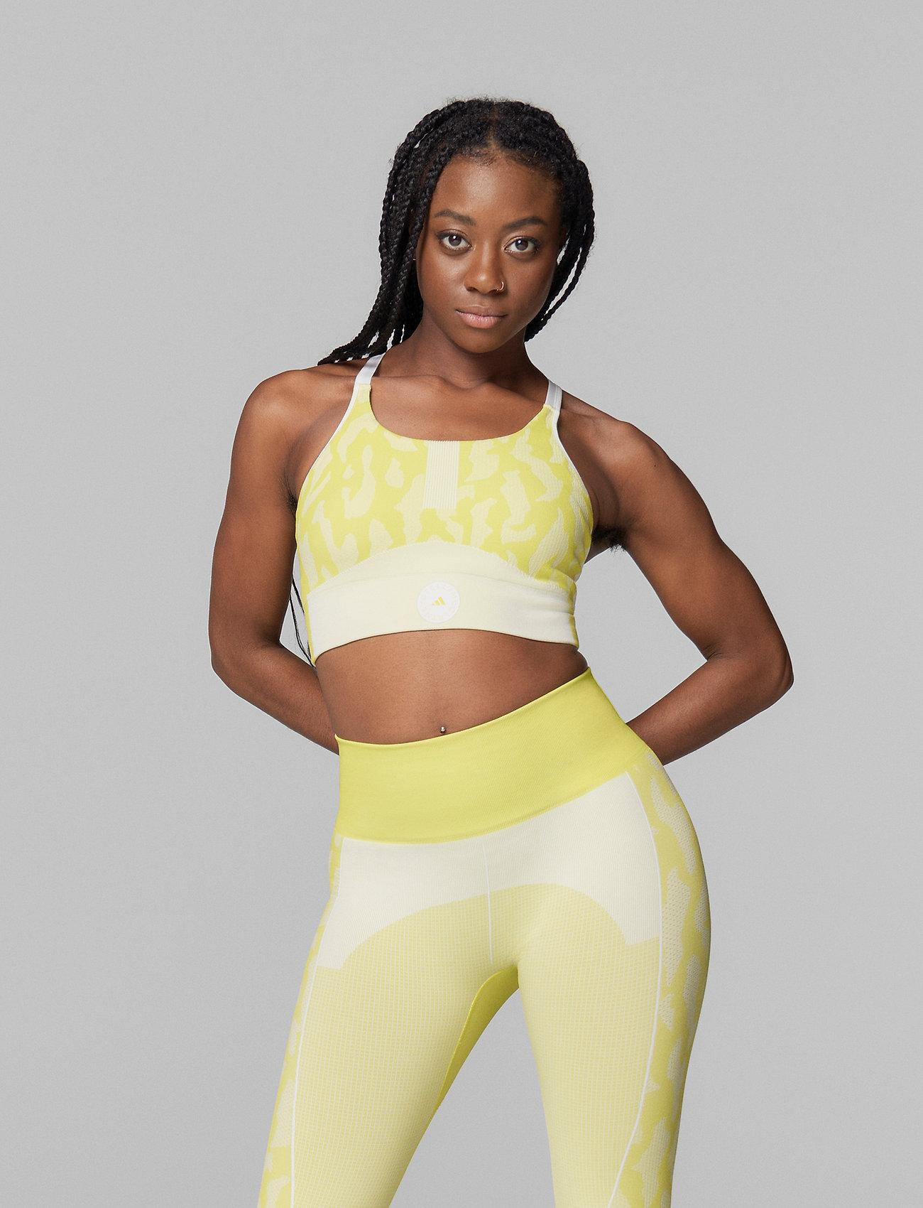 adidas by Stella McCartney - TruePurpose Seamless Bra W - sport bras: low - aciyel/white - 0