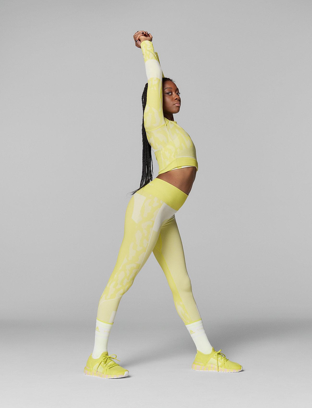 adidas by Stella McCartney - TruePurpose Seamless Crop Top W - crop tops - aciyel/white - 5