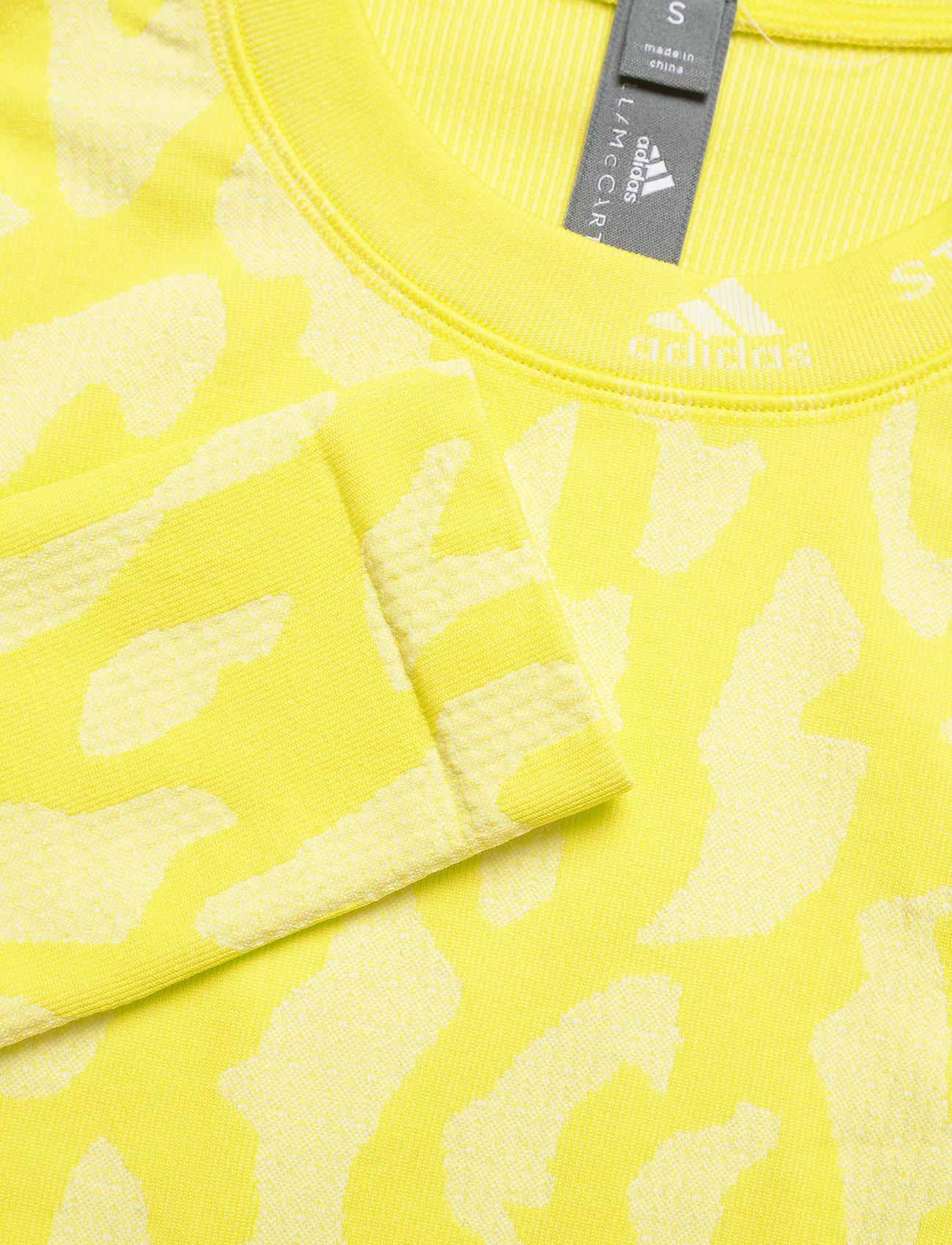 adidas by Stella McCartney - TruePurpose Seamless Crop Top W - crop tops - aciyel/white - 3