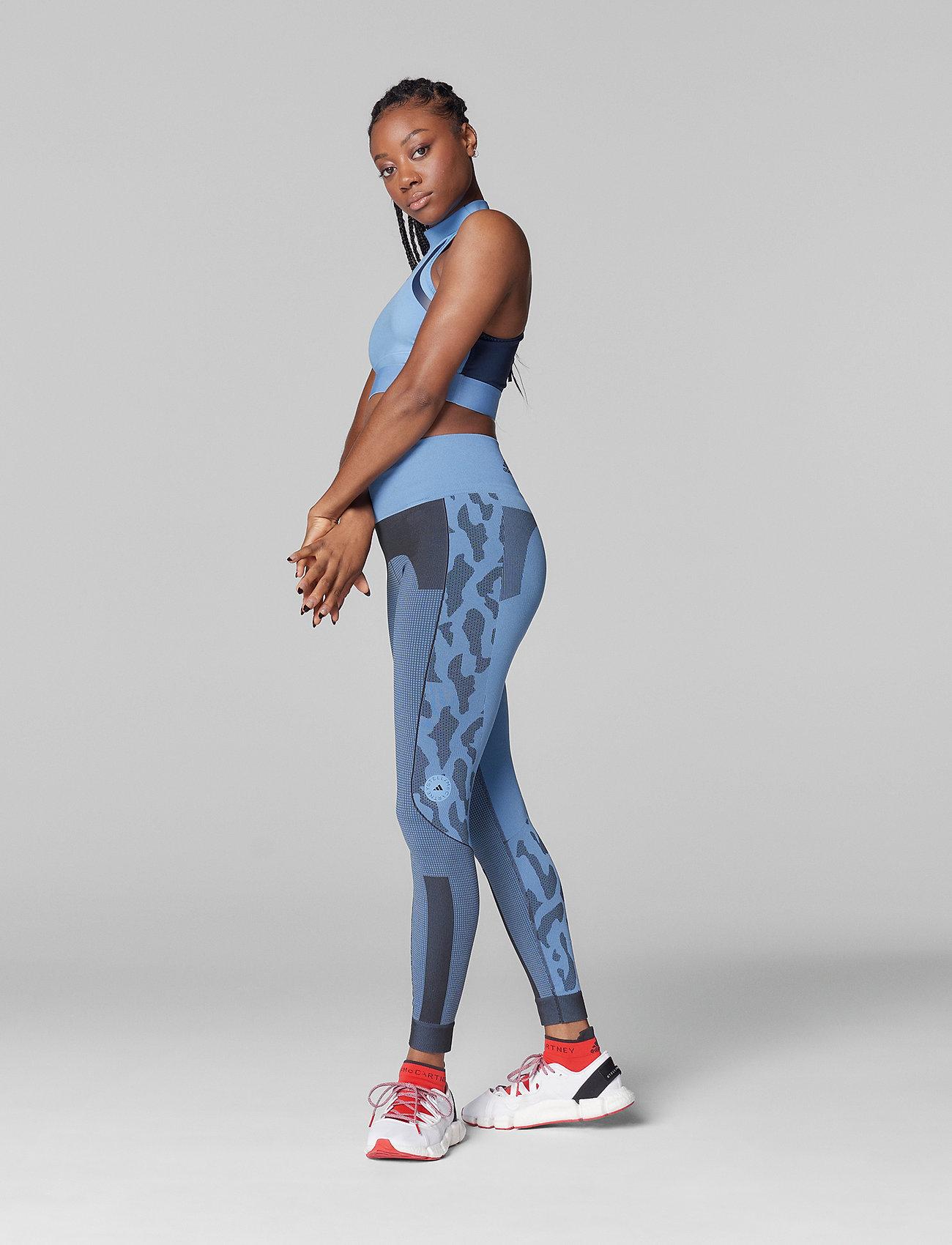 adidas by Stella McCartney - TruePurpose Seamless Tights W - running & training tights - stoblu/black - 0