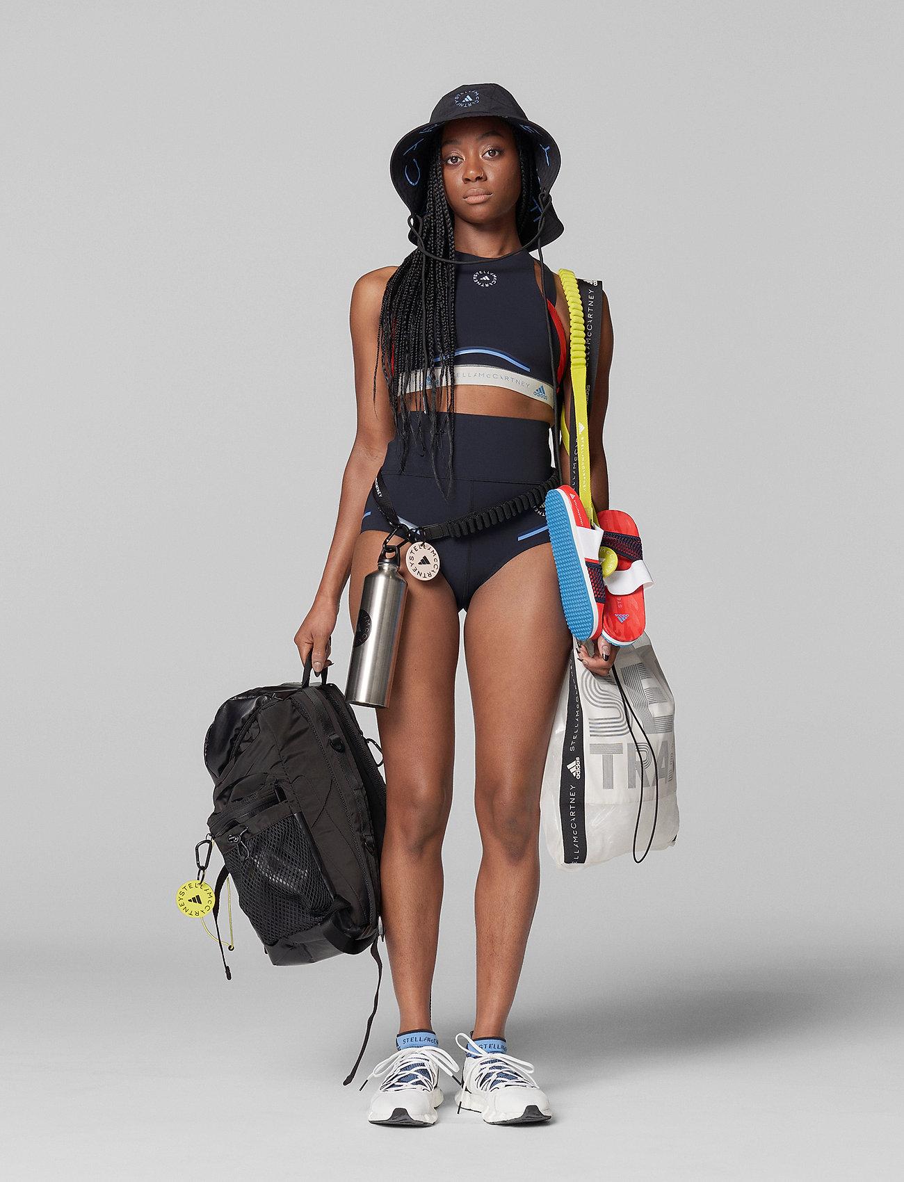 adidas by Stella McCartney - BeachDefender Bikini Top W - bikini tops - black/vivred/stoblu - 4