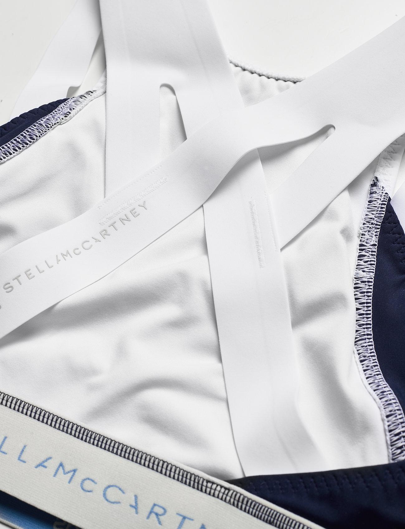 adidas by Stella McCartney - BeachDefender Bikini Top W - bikini tops - white/conavy - 3