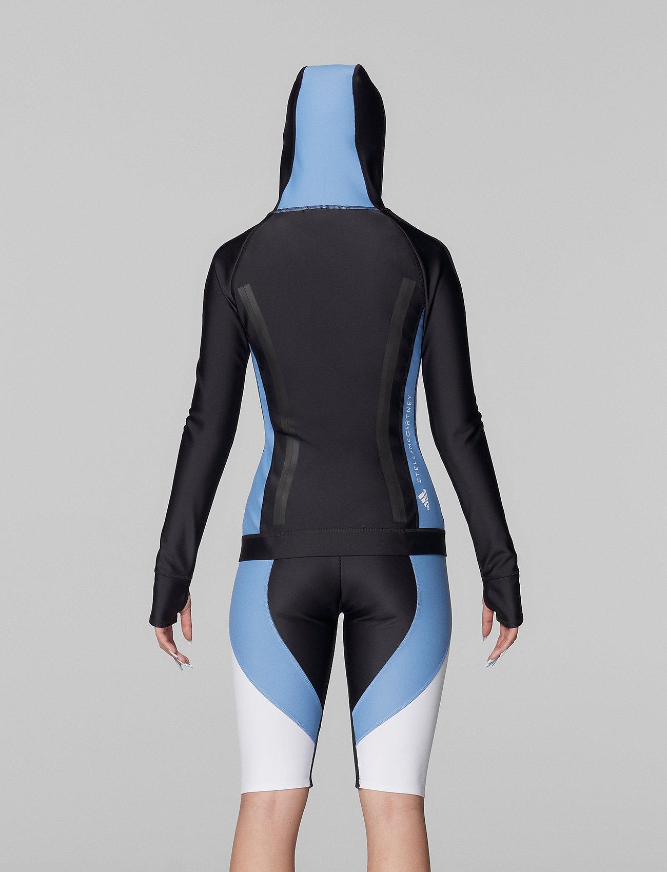 adidas by Stella McCartney - BeachDefender Midlayer Jacket W - sweatshirts & hoodies - black/stoblu - 4