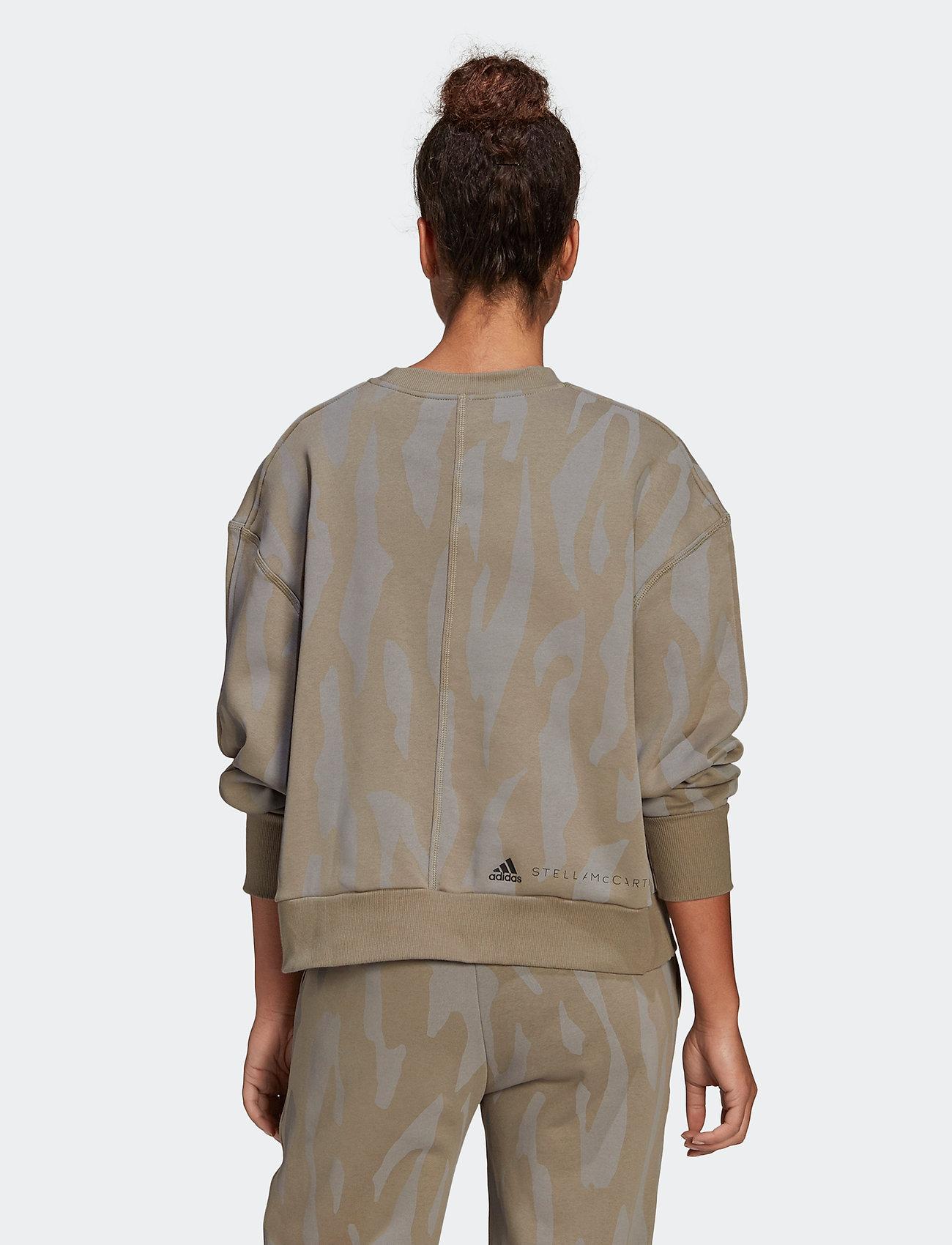 adidas by Stella McCartney - Sweatshirt W - sweatshirts & hoodies - clay/dovgry - 4
