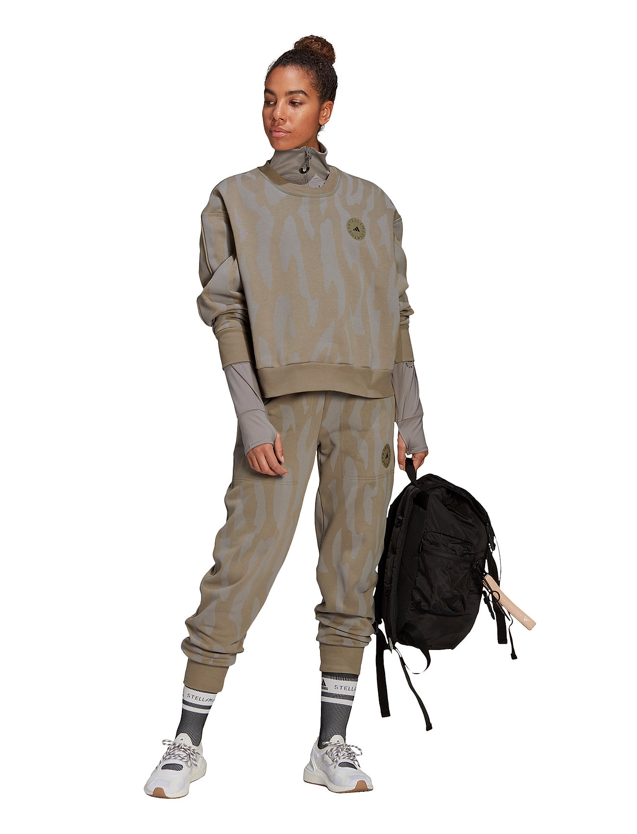 adidas by Stella McCartney - Sweatshirt W - sweatshirts & hoodies - clay/dovgry - 5