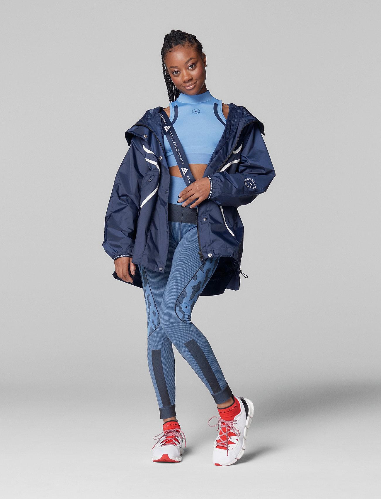 adidas by Stella McCartney - TruePace HEAT.RDY Primeblue Crop Top W - tops & t-shirts - stoblu/conavy - 4