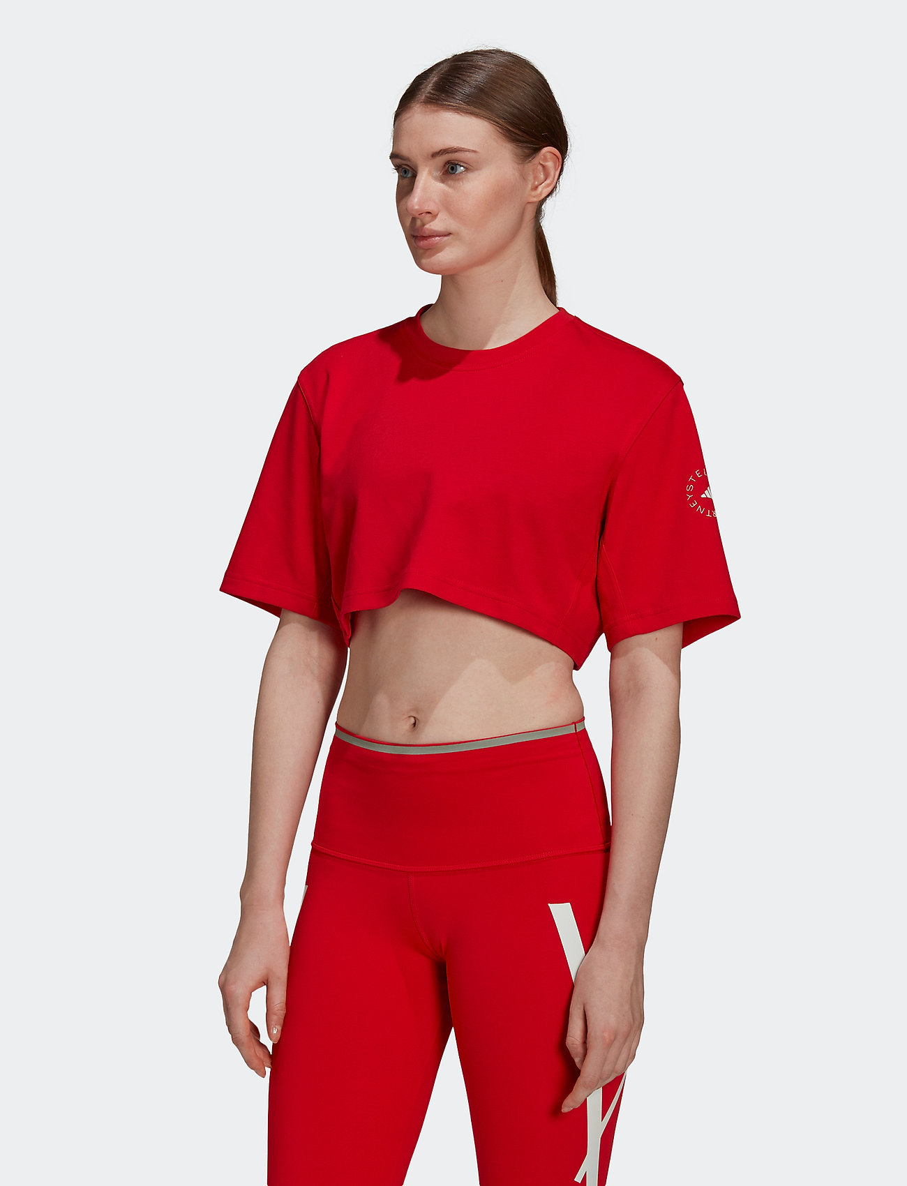 adidas by Stella McCartney - Future Playground Cropped T-Shirt W - tops & t-shirts - vivred - 0