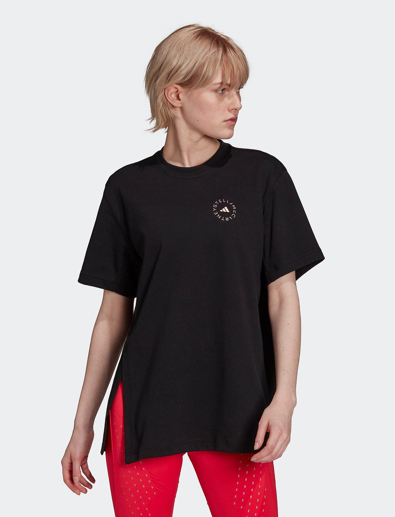 adidas by Stella McCartney - Cotton Tee W - t-shirts - black - 0