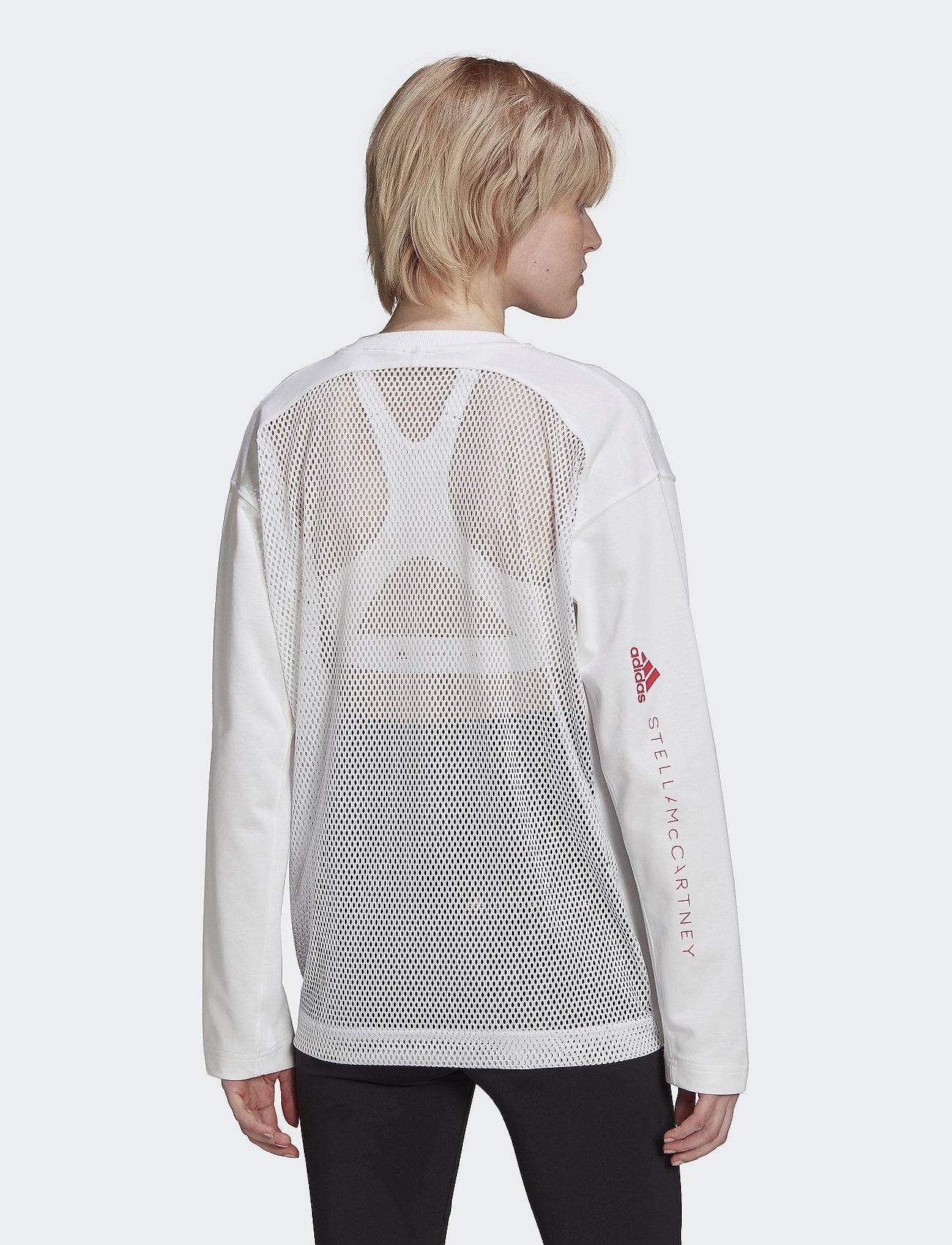 adidas by Stella McCartney - Cotton Long Sleeve Tee W - långärmade toppar - white - 4