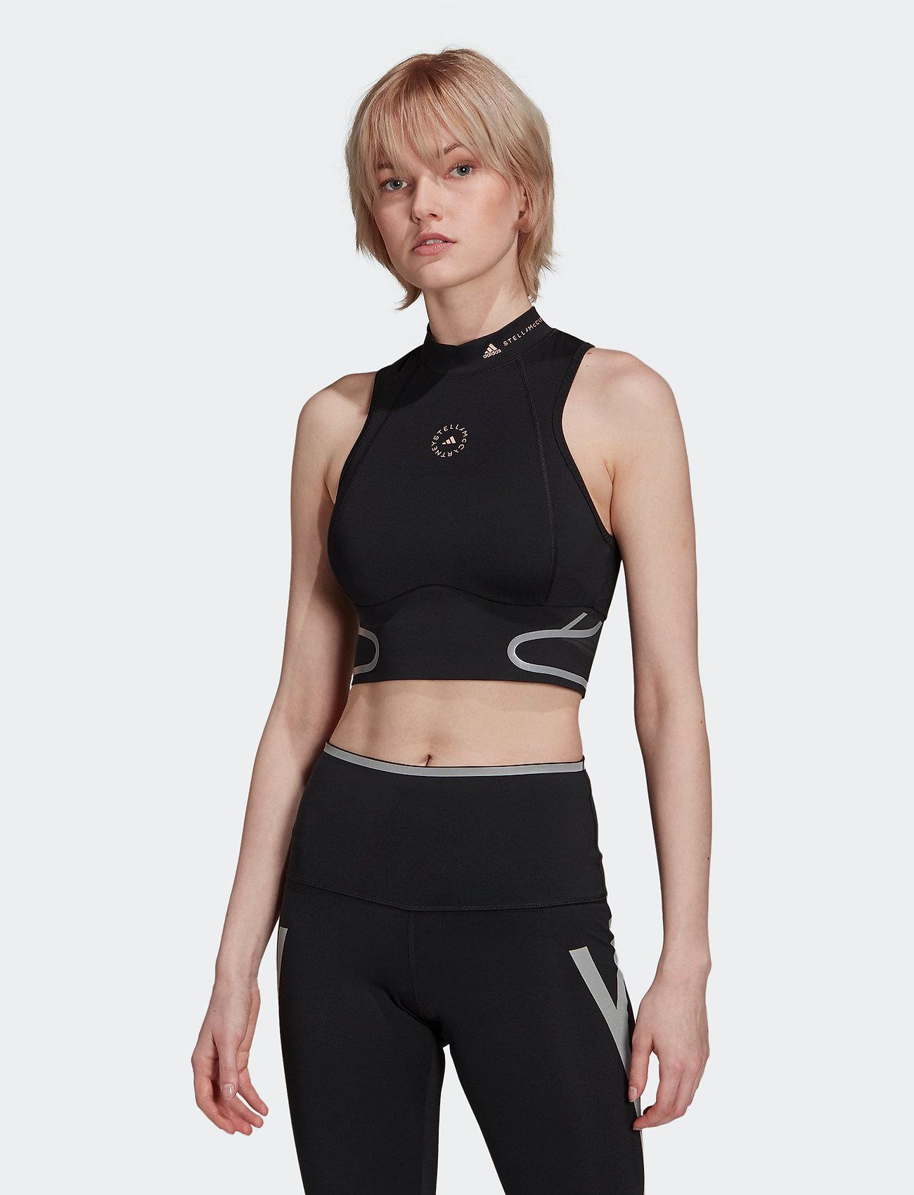 adidas by Stella McCartney - TruePace HEAT.RDY Running Crop Top W - tops & t-shirts - black - 0
