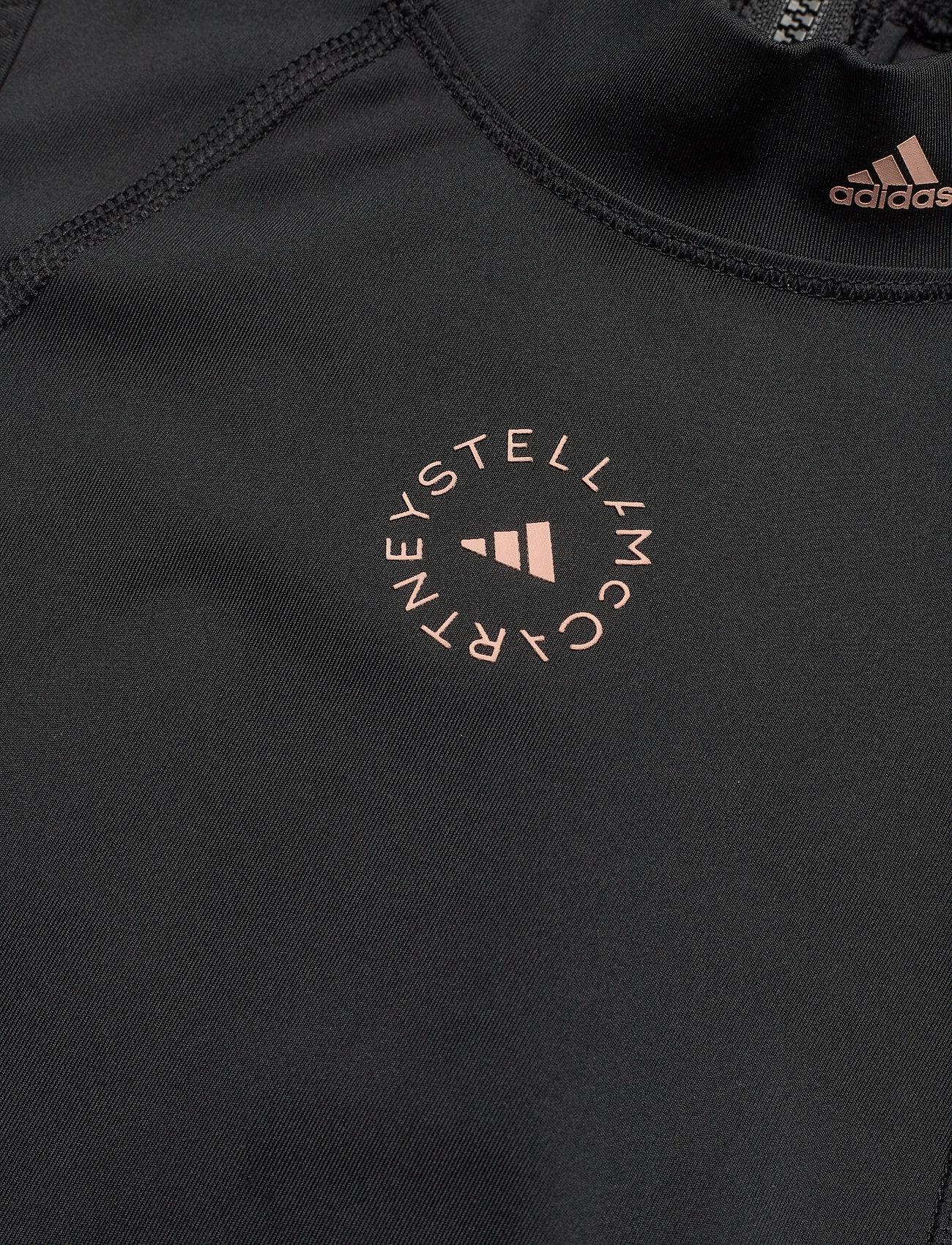 adidas by Stella McCartney - TruePace HEAT.RDY Running Crop Top W - tops & t-shirts - black - 4