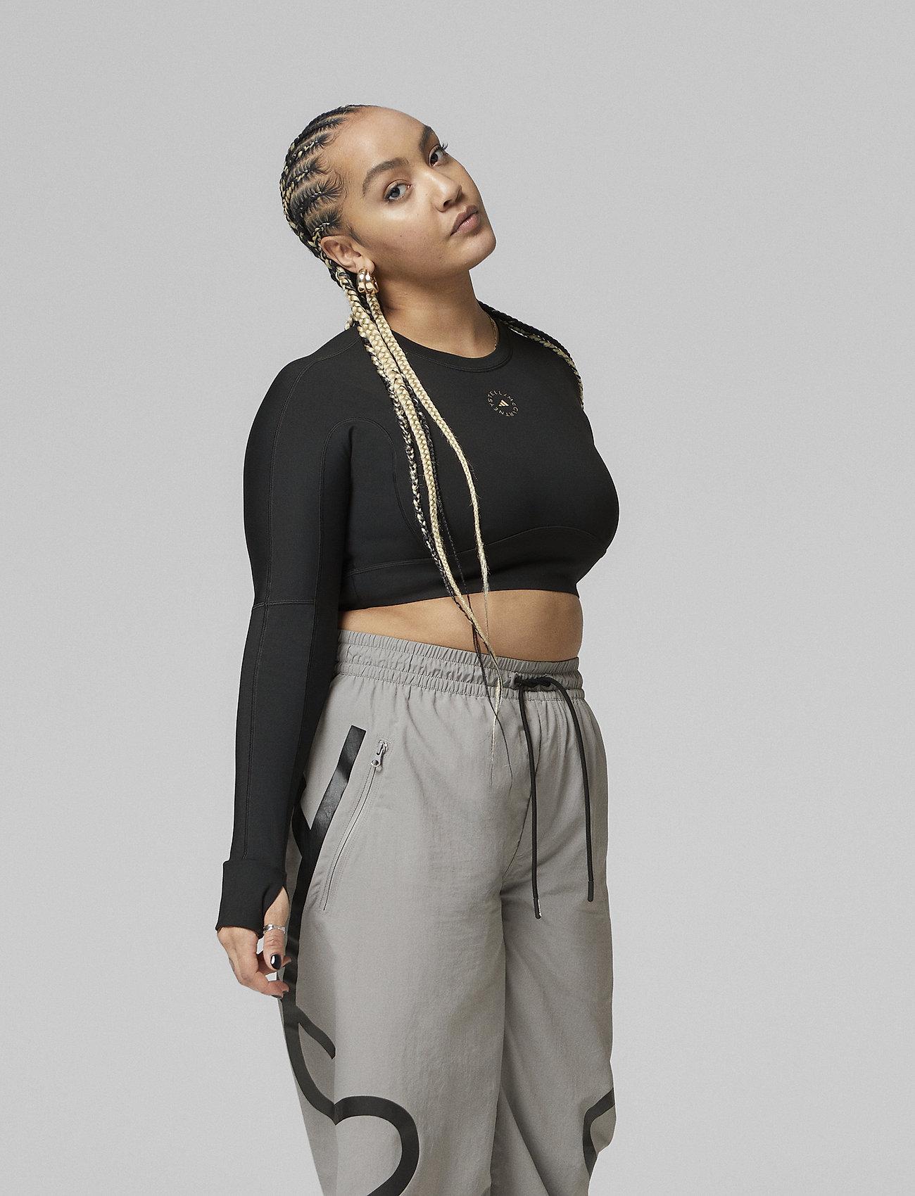 adidas by Stella McCartney - TrueStrength Yoga Crop Top W - crop tops - black - 0