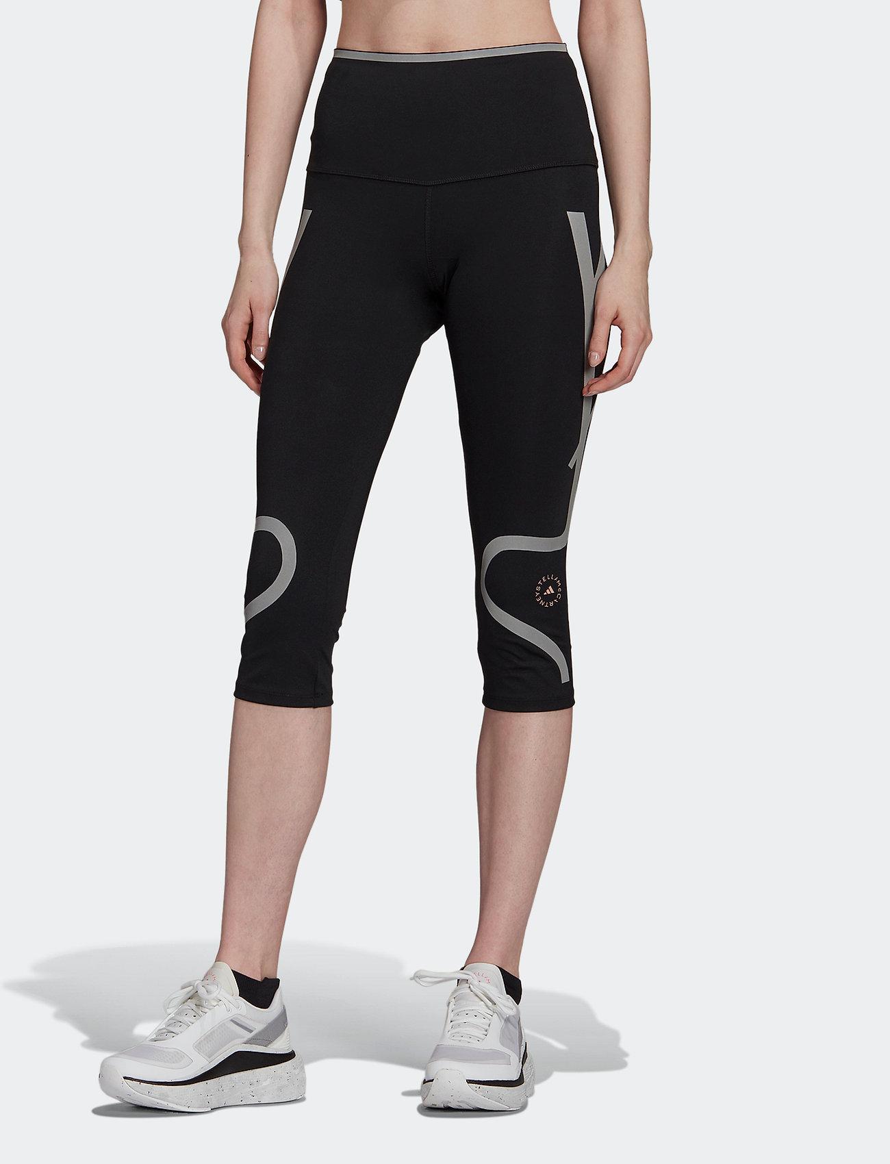 adidas by Stella McCartney - TruePace HEAT.RDY Mid Waist 3/4 Running Tights W - tights & shorts - black - 0
