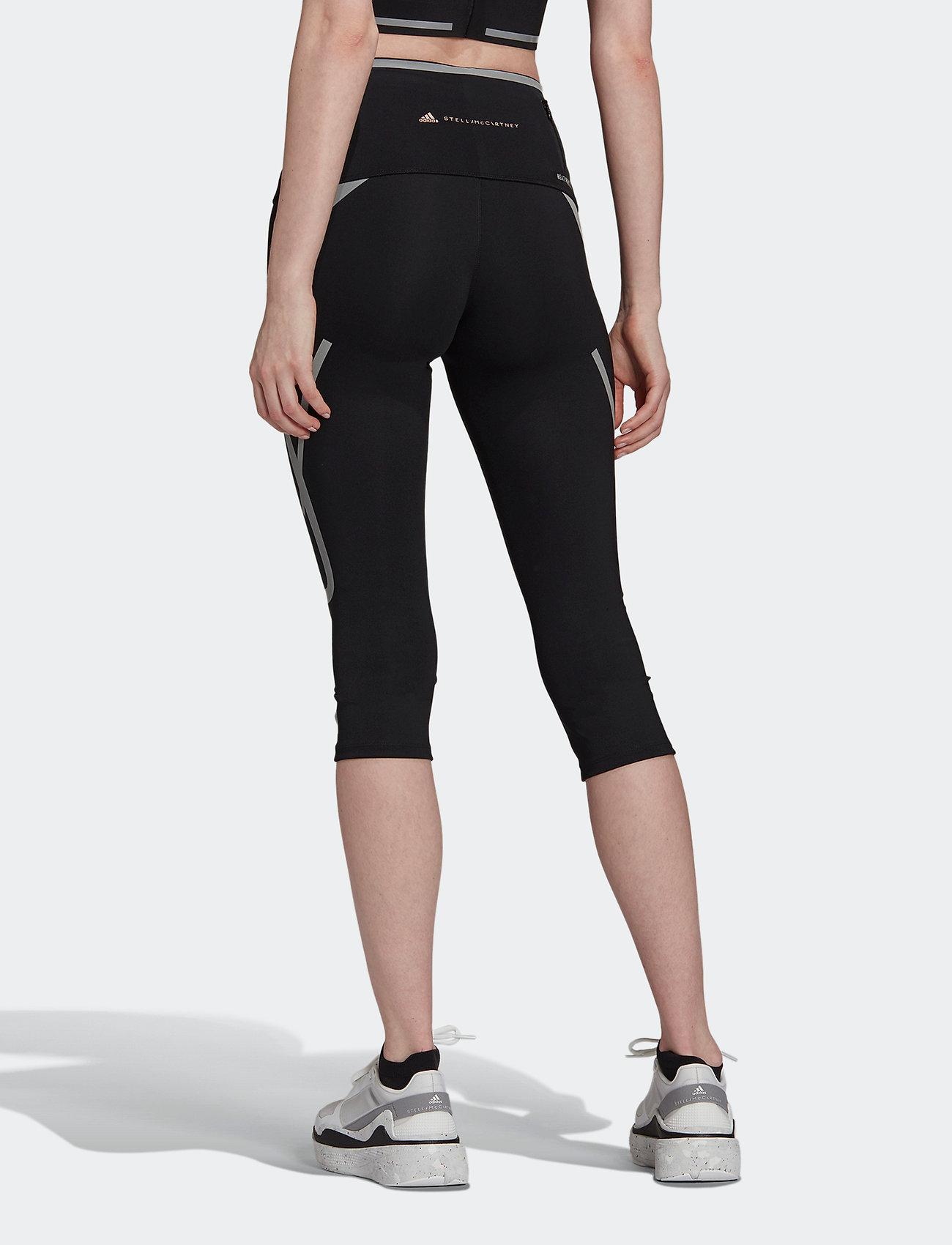 adidas by Stella McCartney - TruePace HEAT.RDY Mid Waist 3/4 Running Tights W - tights & shorts - black - 4