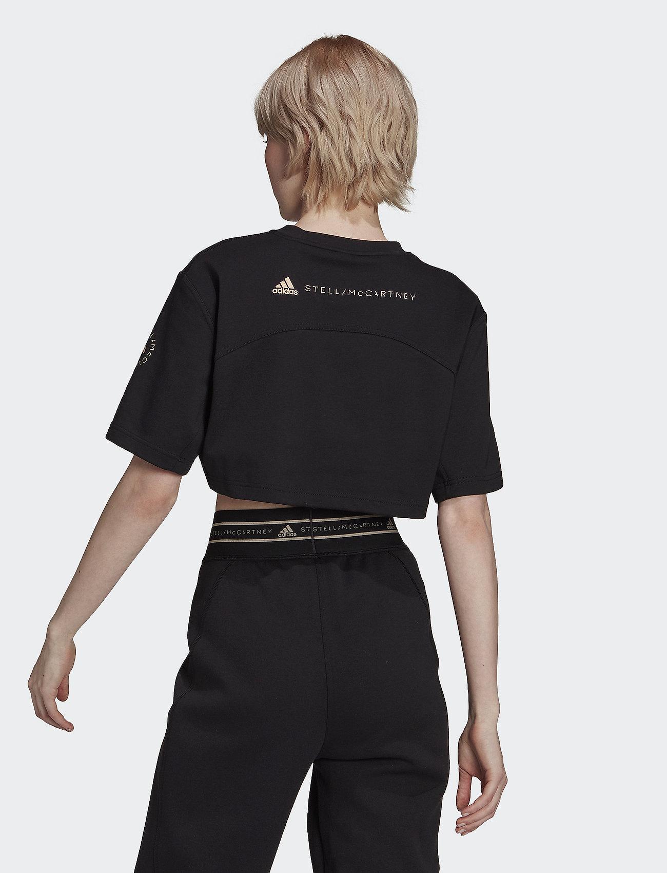 adidas by Stella McCartney - Future Playground Cropped Tee W - crop tops - black/sofpow - 2