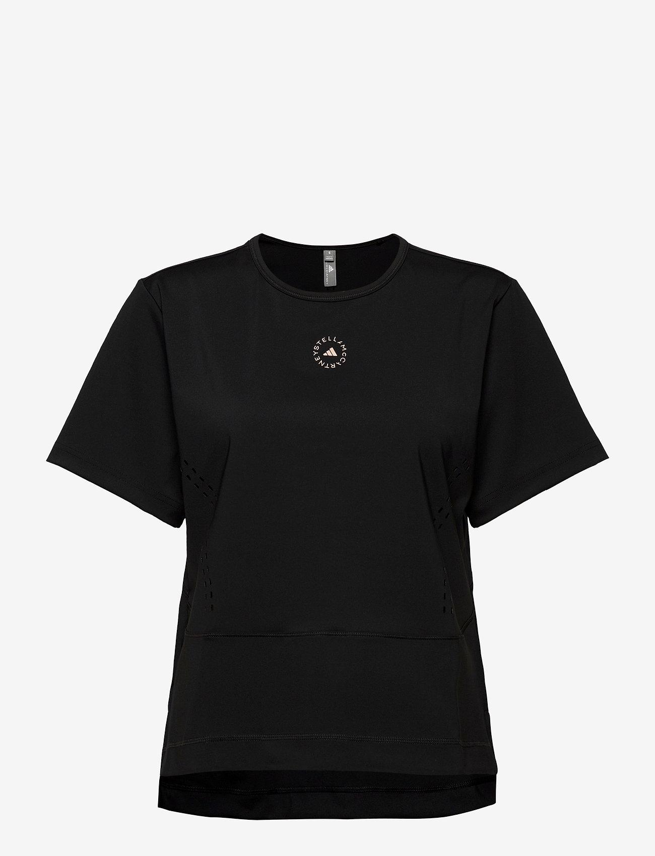adidas by Stella McCartney - TrueStrength Loose T-Shirt W - t-shirts - black - 1