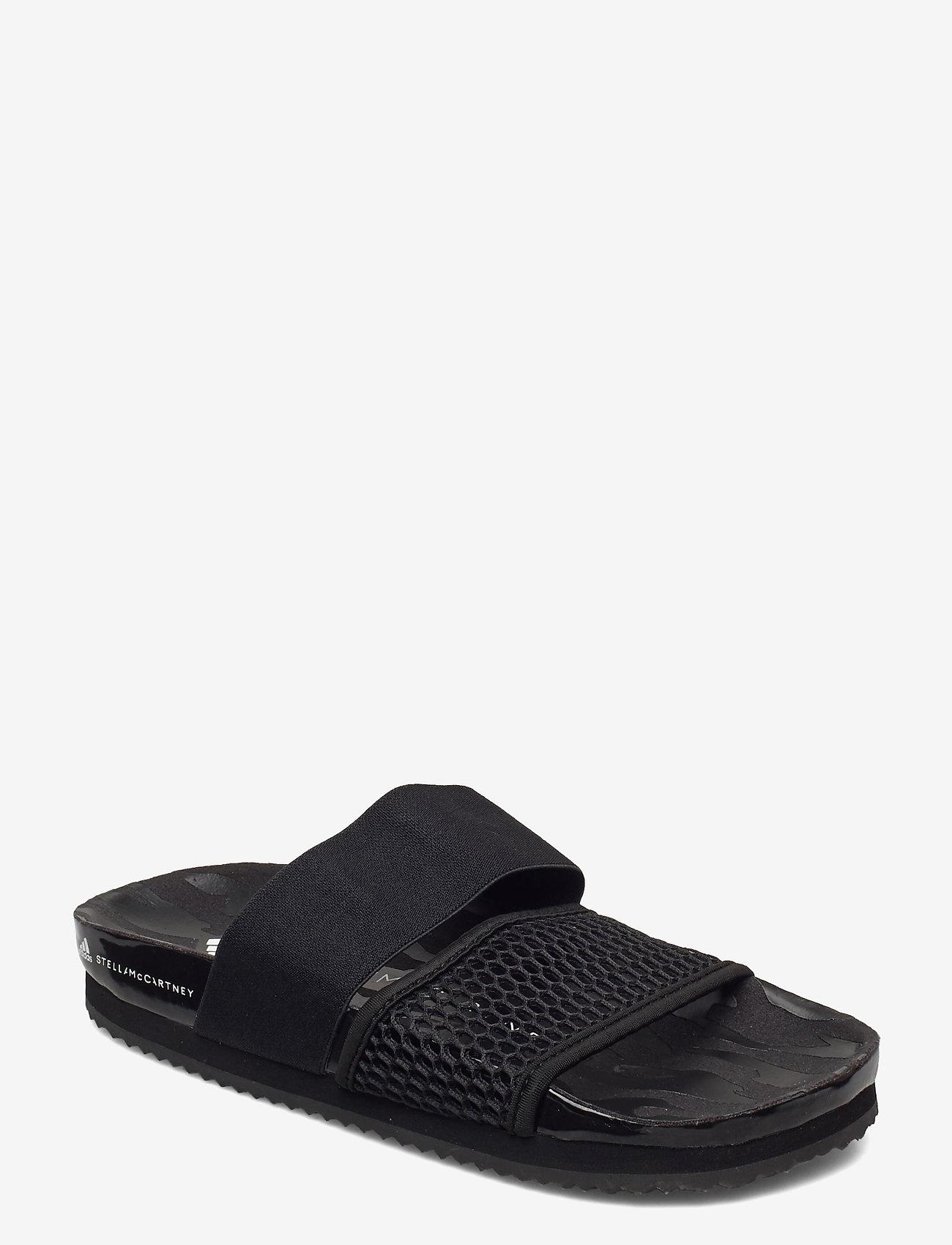 adidas by Stella McCartney - Lette Slides W - sport - cblack/cblack/ftwwht - 0
