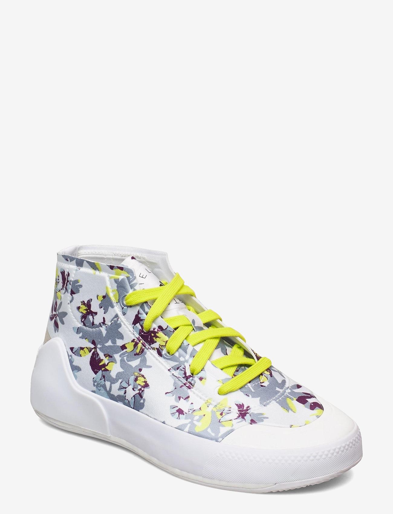 adidas by Stella McCartney - Treino Mid-Cut W - training shoes - ftwwht/cblack/aciyel - 0