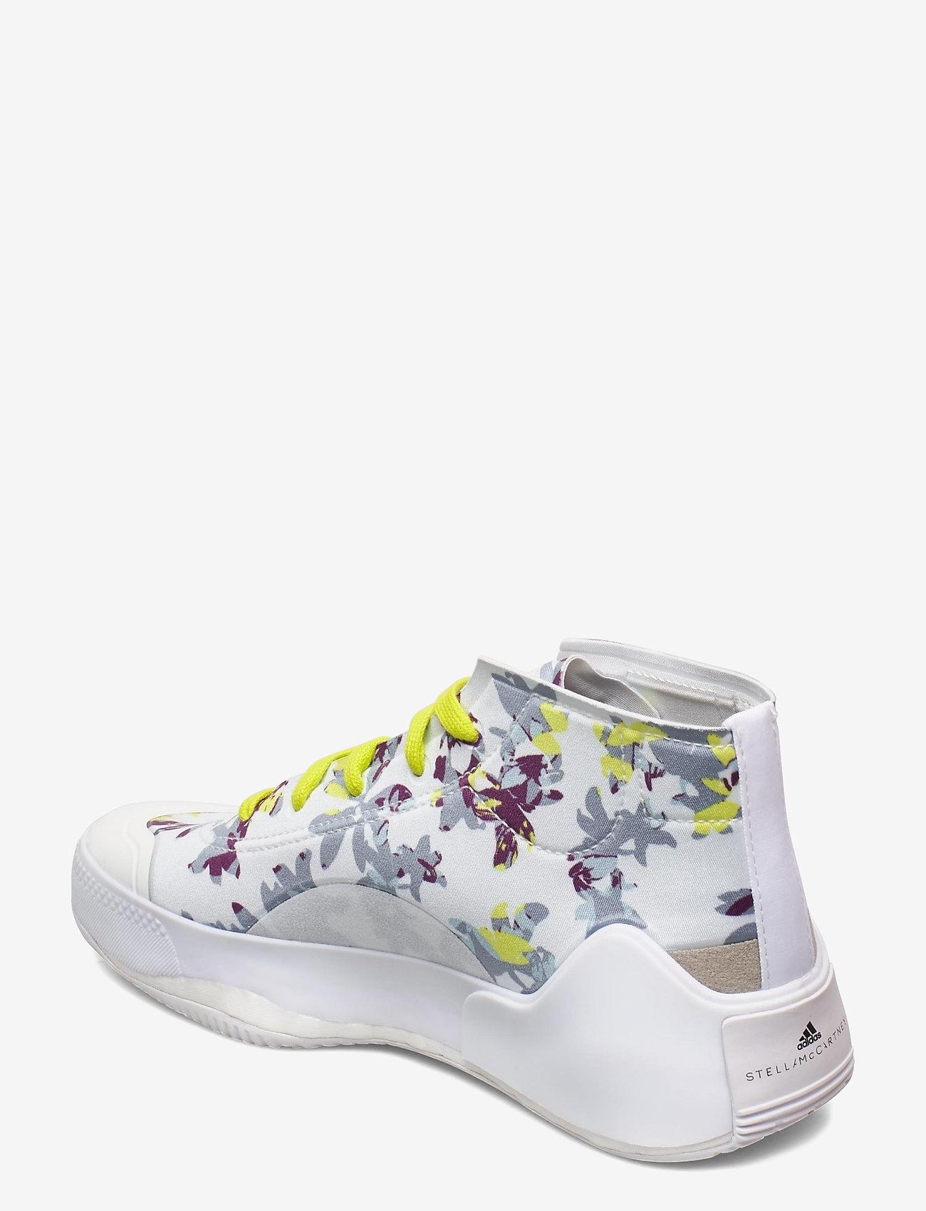 adidas by Stella McCartney - Treino Mid-Cut W - high top sneakers - ftwwht/cblack/aciyel - 2