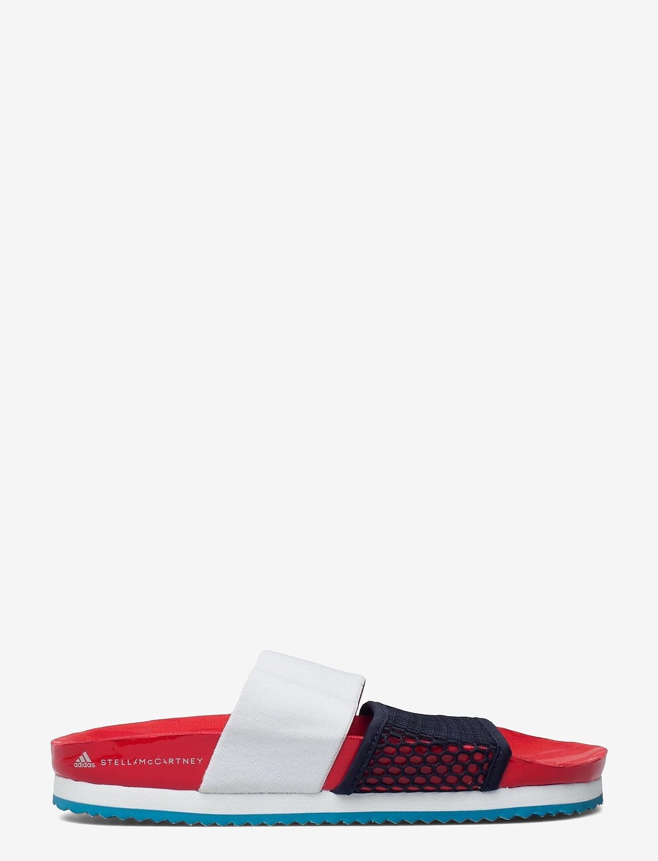adidas by Stella McCartney - aSMC Lette - platta sandaler - vivred/conavy/stoblu - 1